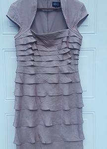 🎉Adrianna Papell|Rose Gold Dress|Sz 8